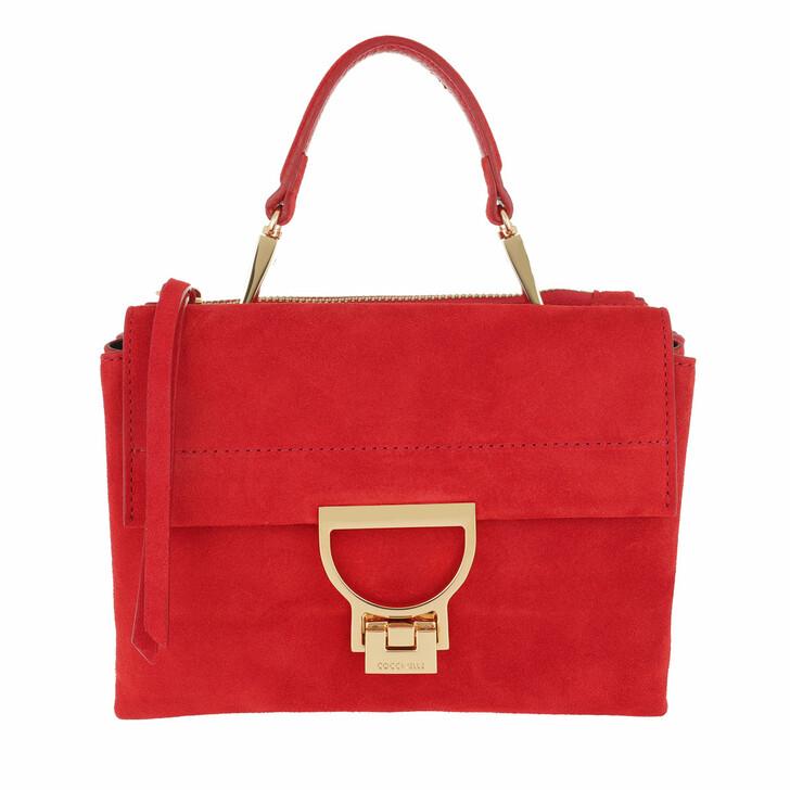 Handtasche, Coccinelle, Arlettis Suede Crossbody Bag Coquelicot