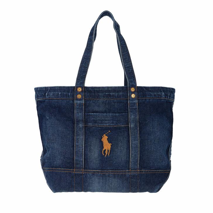 bags, Polo Ralph Lauren, Tote Medium Dark Denim