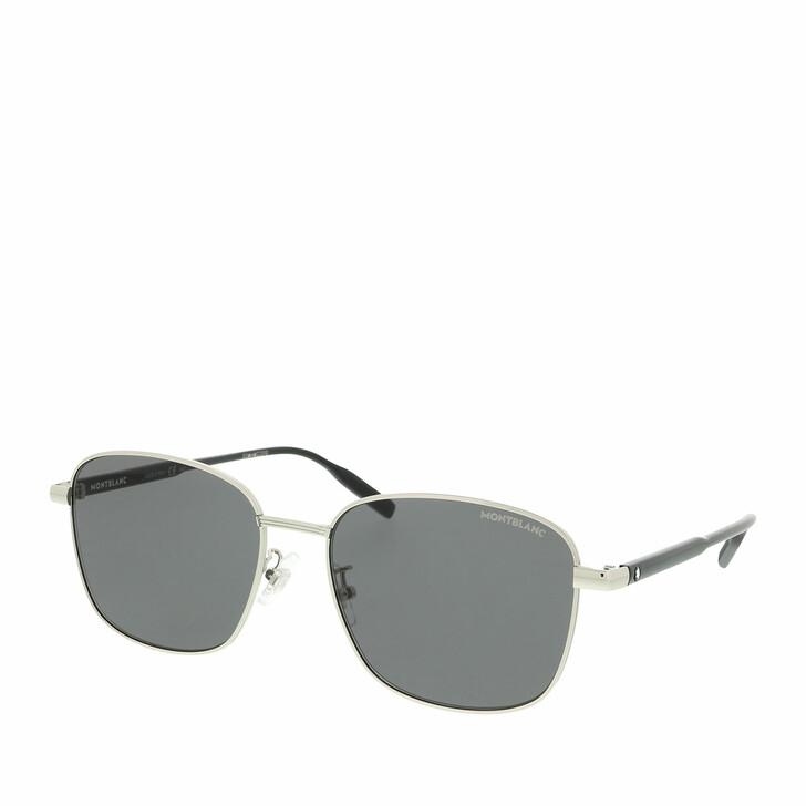 Sonnenbrille, Montblanc, MB0137SK-002 58 Sunglass MAN METAL Silver