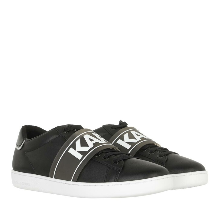 shoes, Karl Lagerfeld, KUPSOLE II Karl Band Lo Lace Black Leather