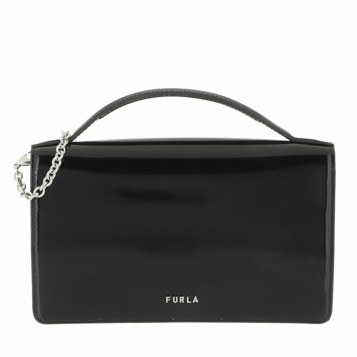 bags, Furla, Furla Splendida Mini Crossbody Nero+Cognac H