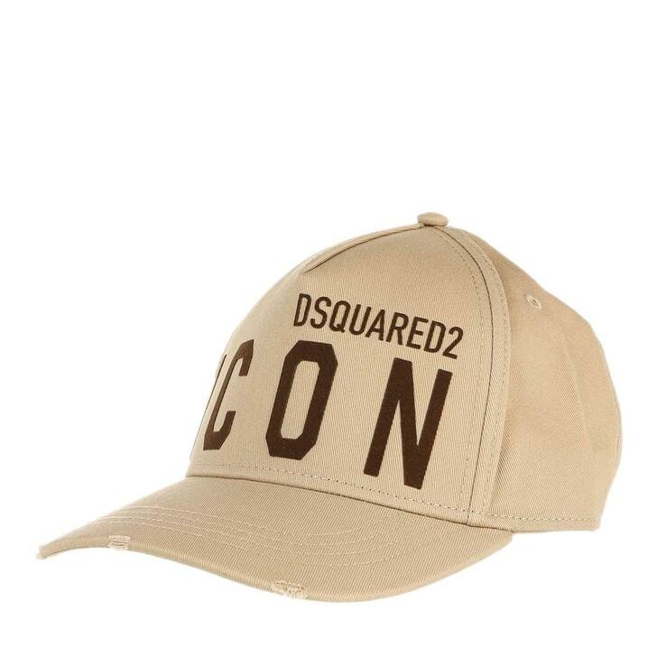 hats, Dsquared2, Icon Baseball Cap Beige/Black