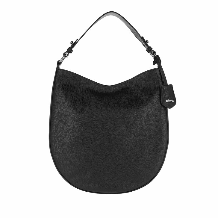 Handtasche, Abro, Bucket Bag Ay Black Nickel