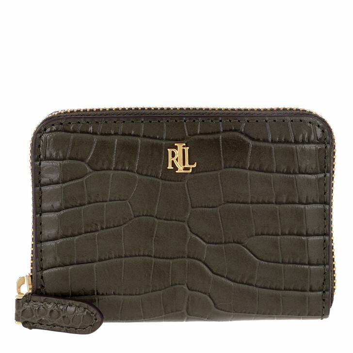 wallets, Lauren Ralph Lauren, Small Zip Wallet Deep Olive