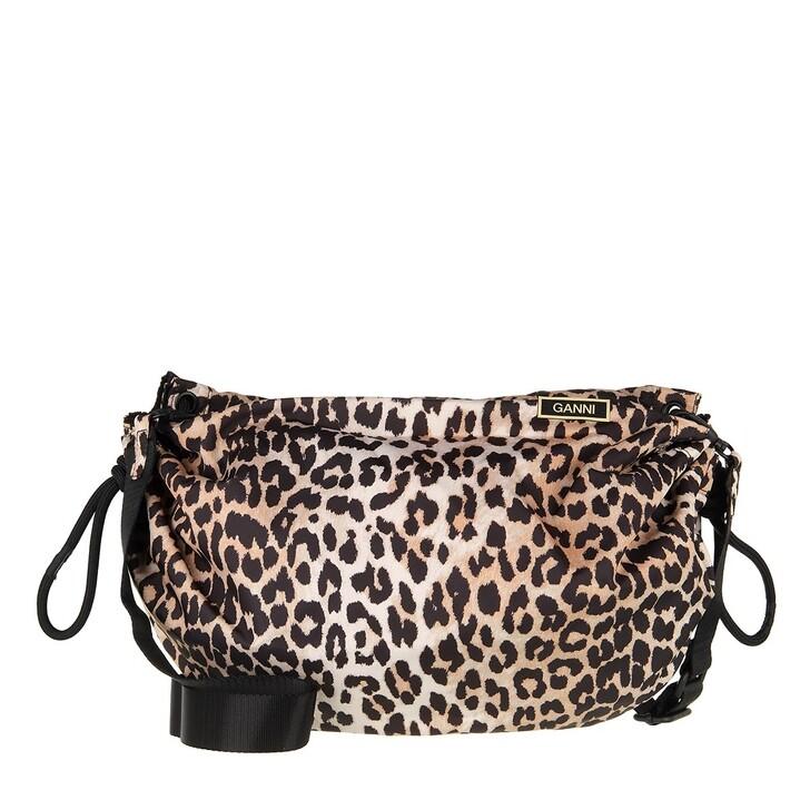 Reisetasche, GANNI, Duffle bag Leopard