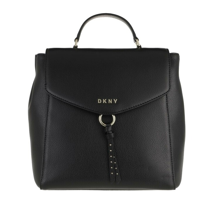 bags, DKNY, Lola Backpack Blk/Gold