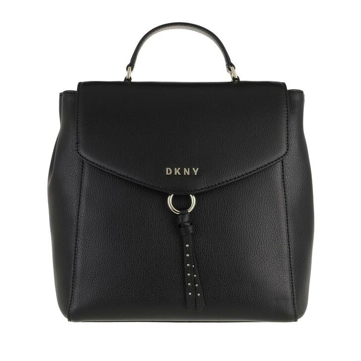 Reisetasche, DKNY, Lola Backpack Blk/Gold