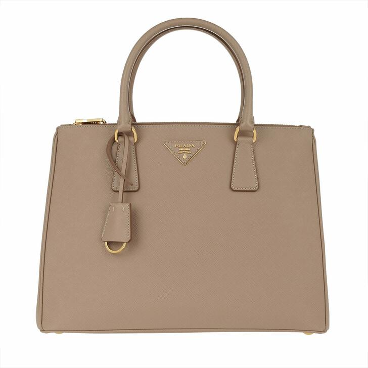 Handtasche, Prada, Borsa A Mano Saffiano Lux Cammeo/Oro