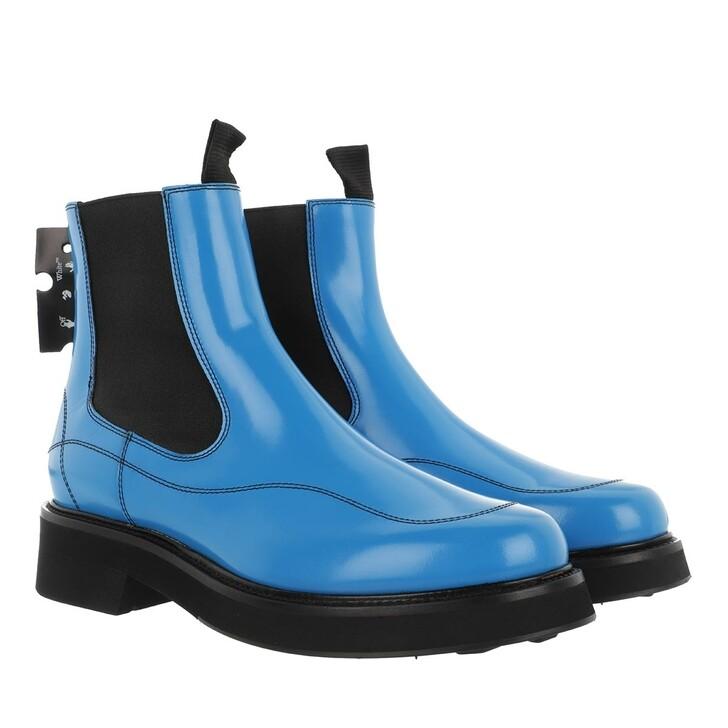 shoes, Off-White, Calf Chealsea Boot  Blue