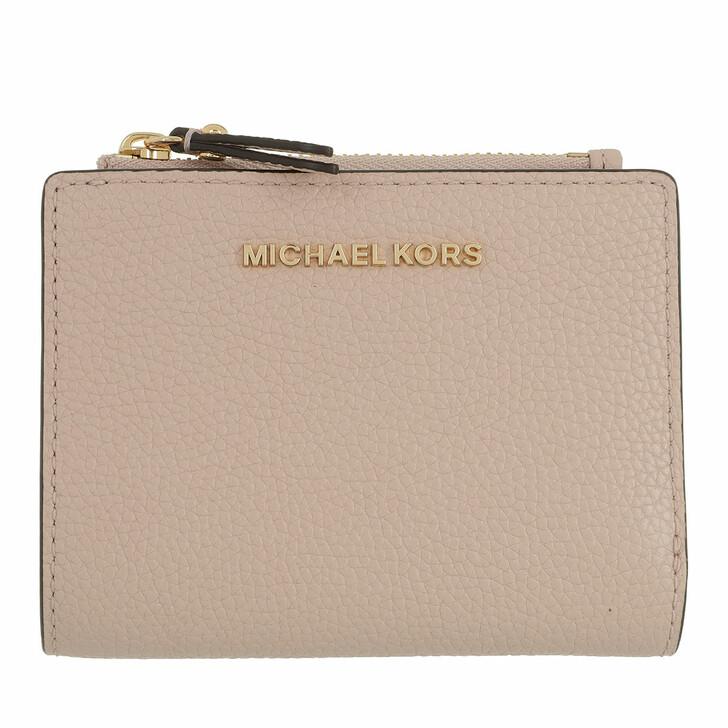 wallets, MICHAEL Michael Kors, Jet Set Snap Billfold Wallet Leather Soft Pink