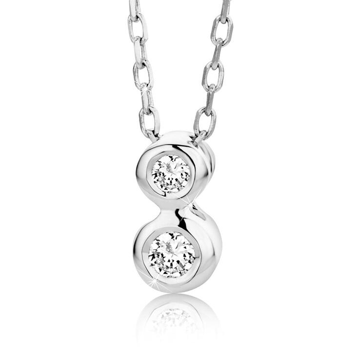 Kette, DIAMADA, 0.07ct Diamond Necklace  14KT White Gold