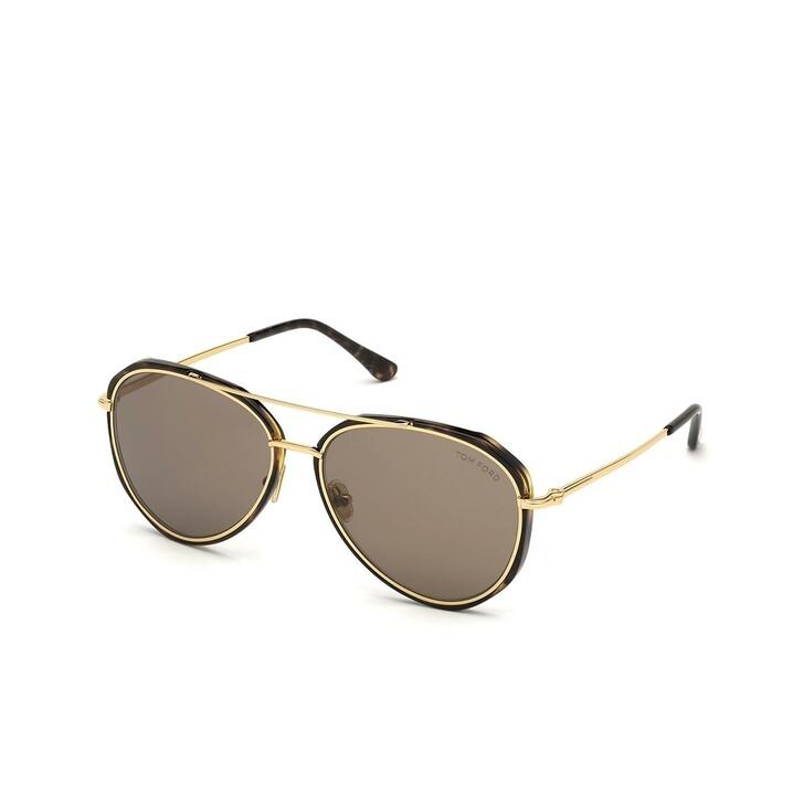 Sonnenbrille, Tom Ford, Men Metal Sunglasses FT0749 Havanna