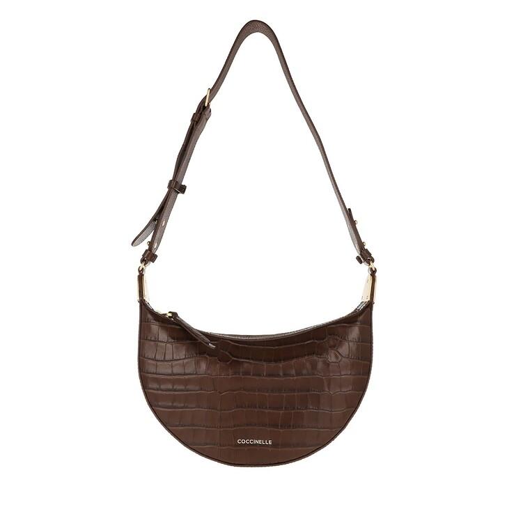 Handtasche, Coccinelle, Anais Croco Shiny Soft Moka