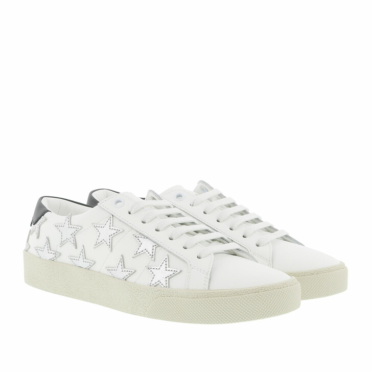 Schuh, Saint Laurent, Star Sneakers Leather White