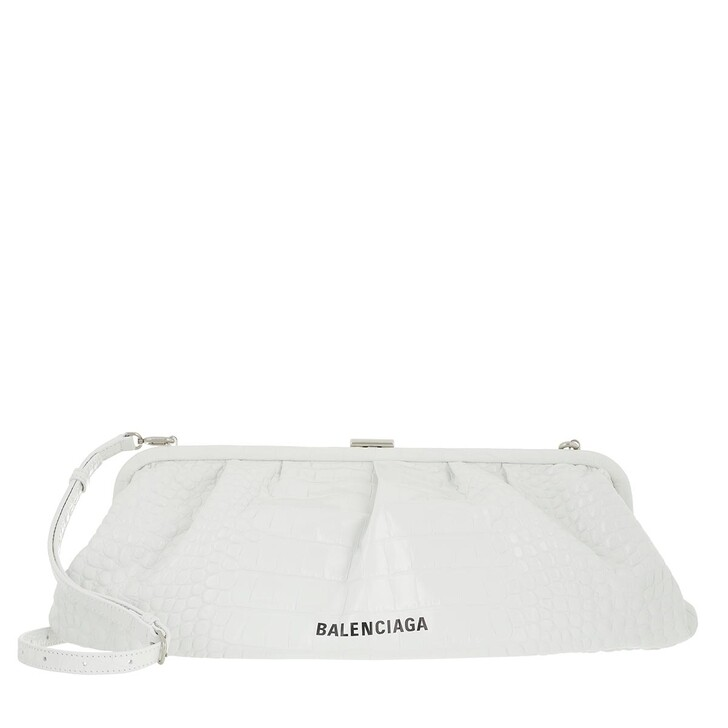 Handtasche, Balenciaga, XL Cloud Pouch With Strap White