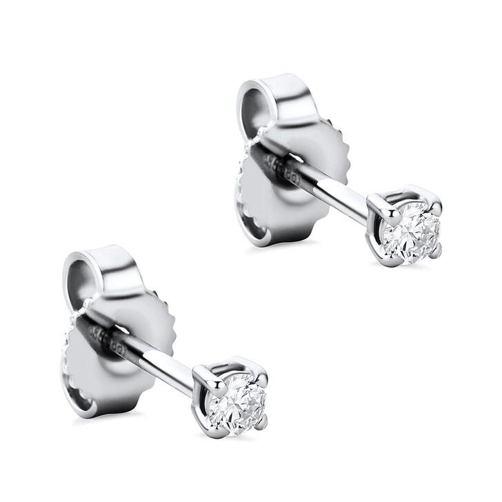 Ohrring, DIAMADA, 14KT 0.12ct Diamond Stud Solitaire Earring  White Gold