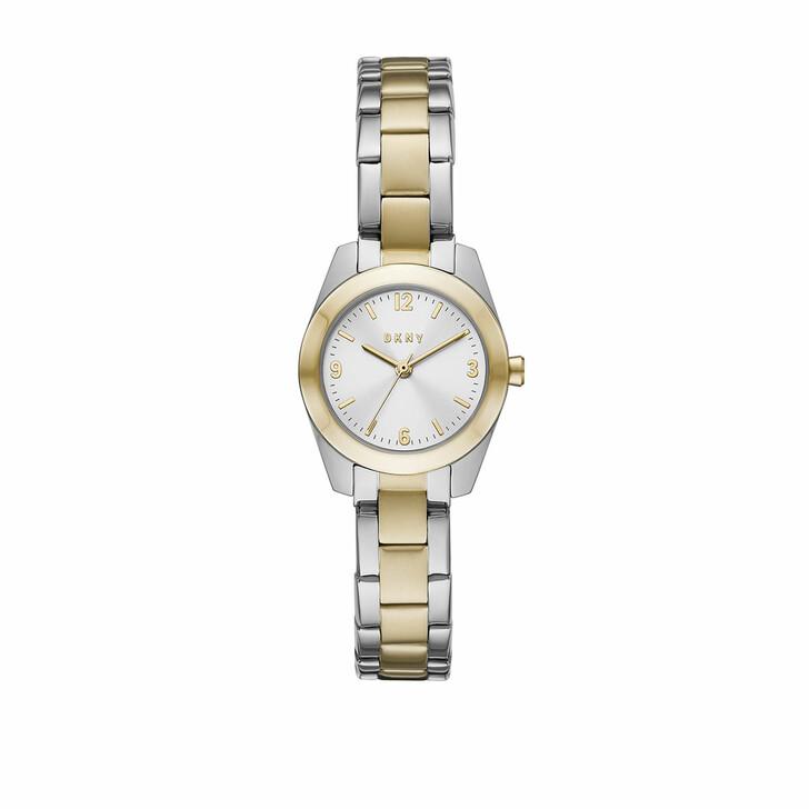 Uhr, DKNY, Nolita Three-Hand Stainless Steel Watch Silver Gold