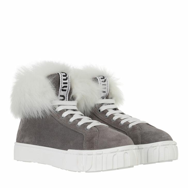 shoes, Miu Miu, High Top Sneaker Grey