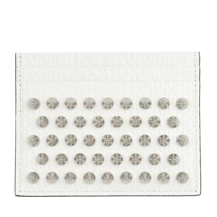 wallets, Christian Louboutin, Kios Jurassic Card Holder Leather White