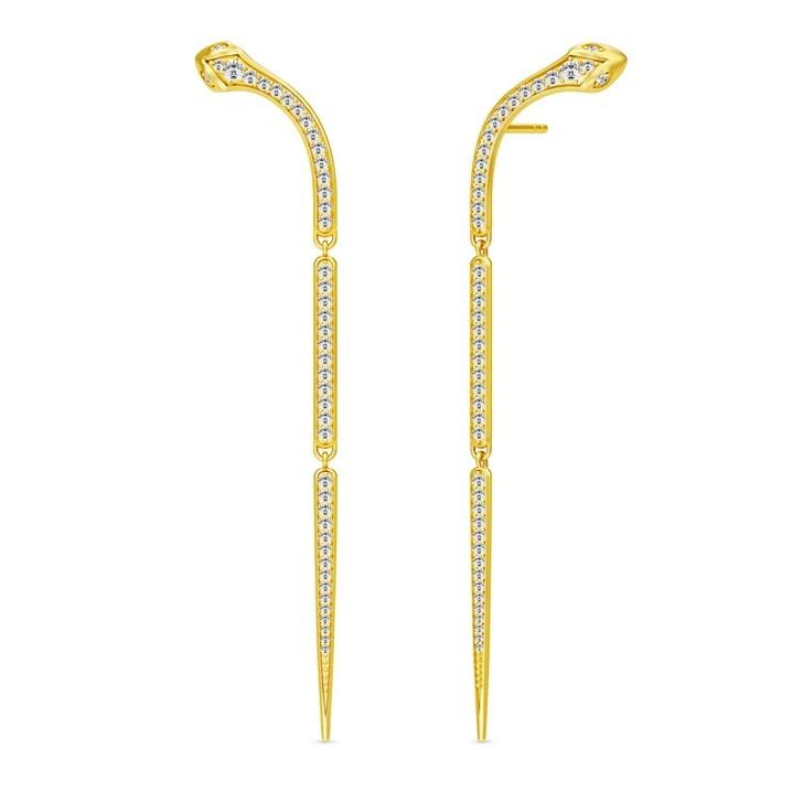 Ohrring, Julie Sandlau, Boa Chandelier Earrings Gold