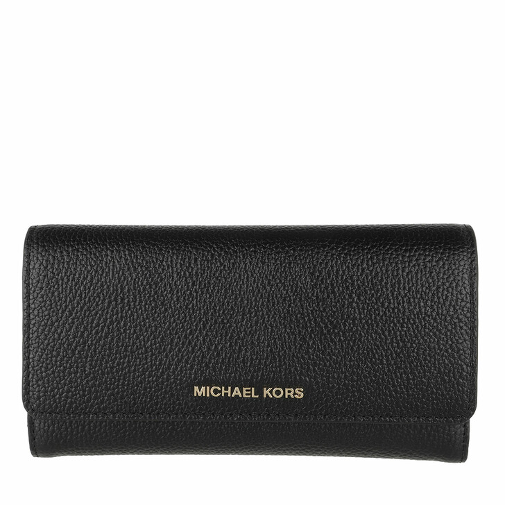 Geldbörse, MICHAEL Michael Kors, Large Trifold Wallet Black
