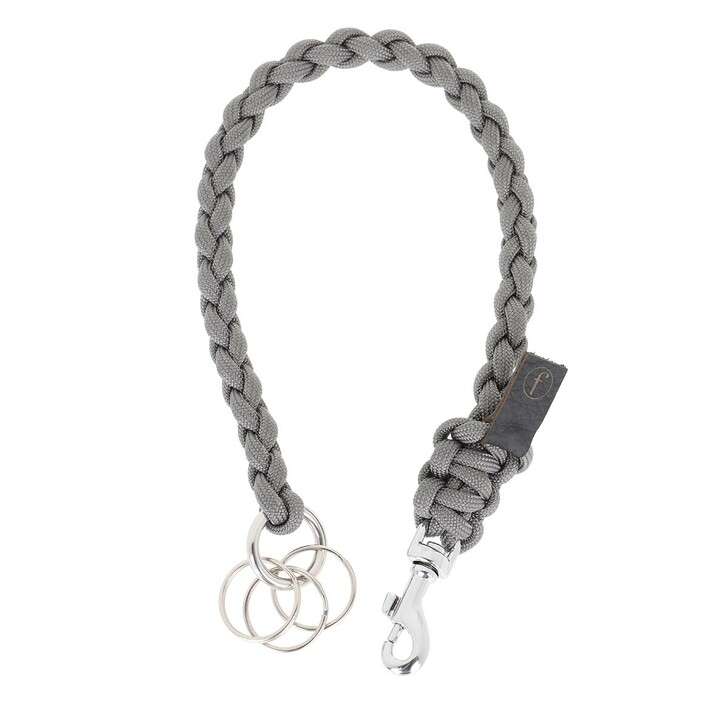 Schlüsselanhänger, fashionette, Key Chain Small Braided Grey