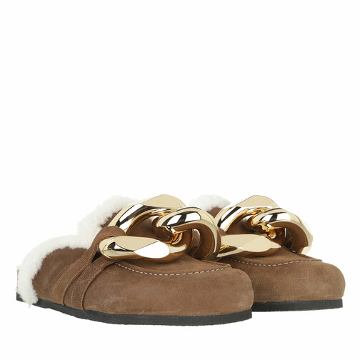 j.w.anderson -  Loafers & Ballerinas - Calf Tuman  Slides - in beige - für Damen