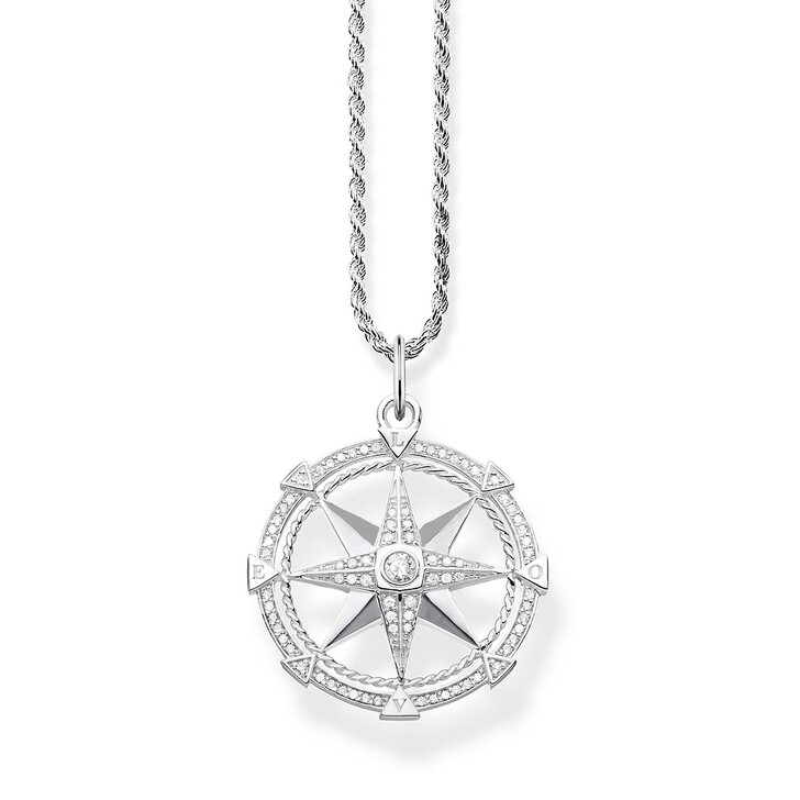 Kette, Thomas Sabo, Necklace Compass Silver/White