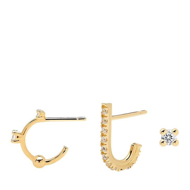 Ohrring, PDPAOLA, Earring Bundle L'OISEAU Yellow Gold