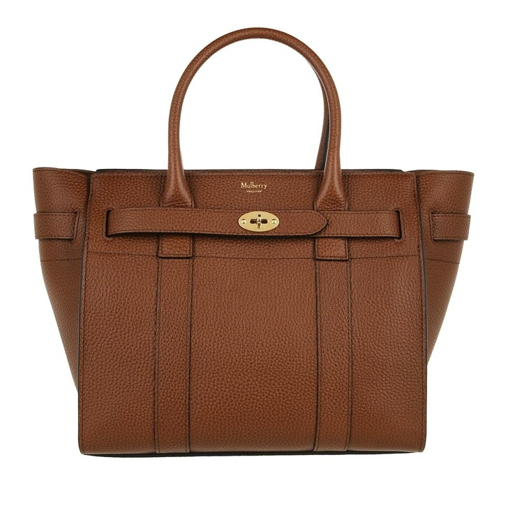 bags, Mulberry, Bayswater Small Zipped Tote Brown
