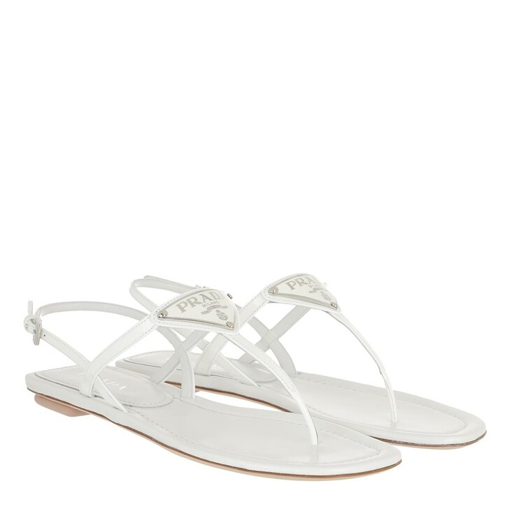 Schuh, Prada, Thong Sandal Patent Leather White