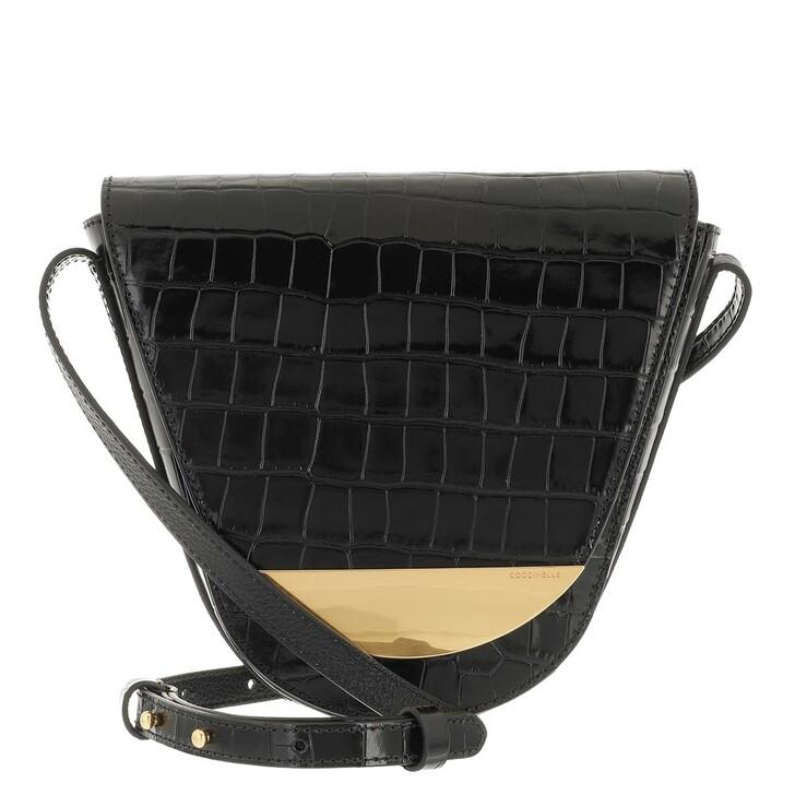 bags, Coccinelle, Handbag Soft Croco Noir