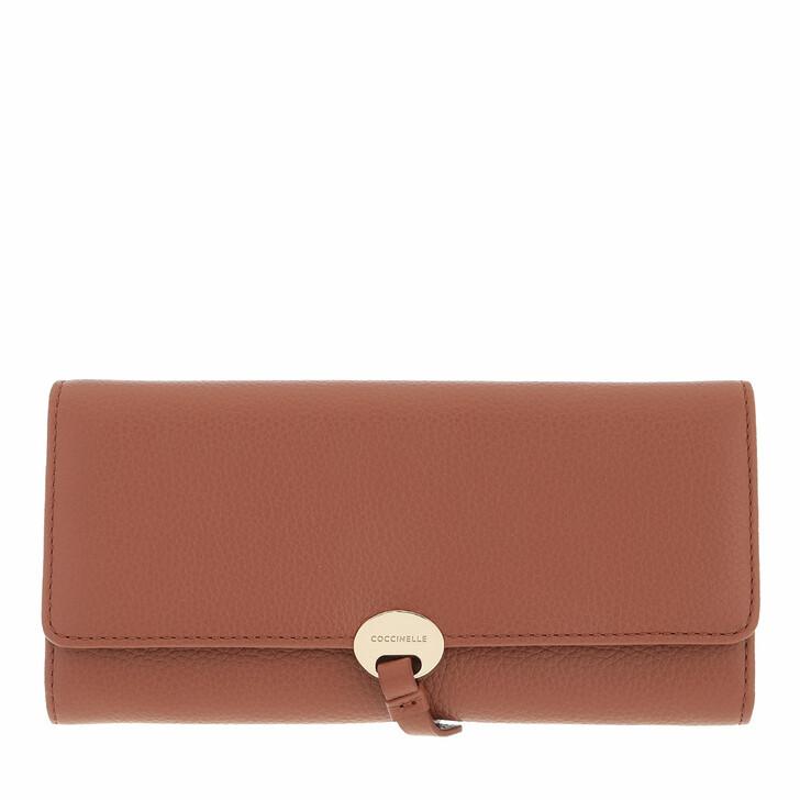 wallets, Coccinelle, Dot Wallet Leather Cinnamon