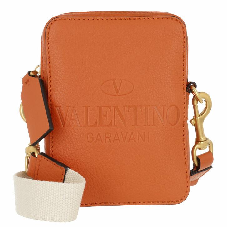 bags, Valentino Garavani, Small Crossbody Bag Leather Orange