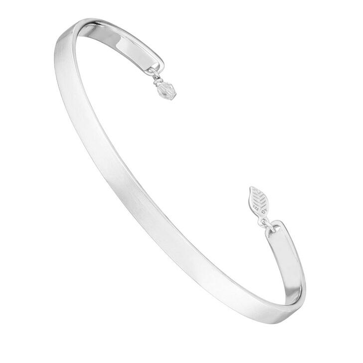 Armreif, Leaf, Bracelet Pure Matt Silver Rhodium-Plated