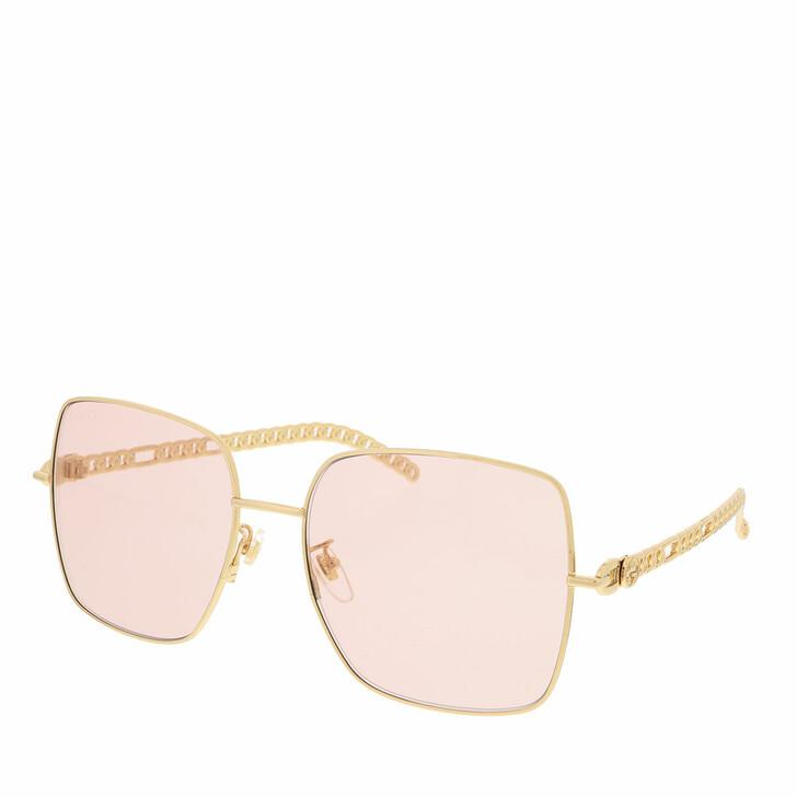 Sonnenbrille, Gucci, GG0724S-003 61 Sunglass WOMAN METAL GOLD