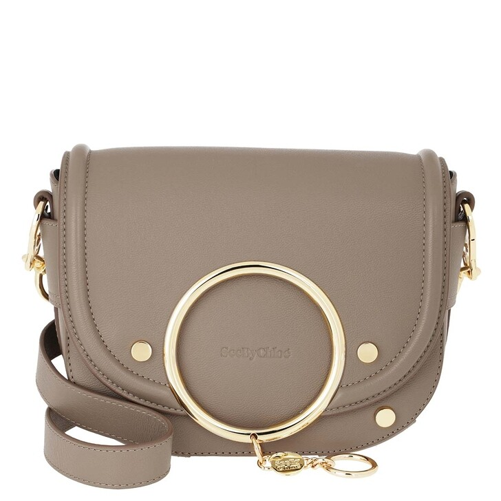 Handtasche, See By Chloé, Mara Shoulder Bag Leather Motty Grey