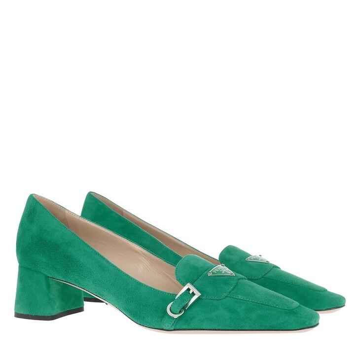 Schuh, Prada, Pumps Leather Smeraldo