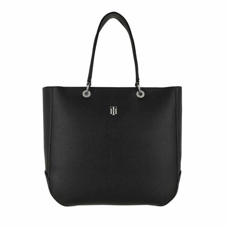 Handtasche, Tommy Hilfiger, TH Essence Tote Bag Black