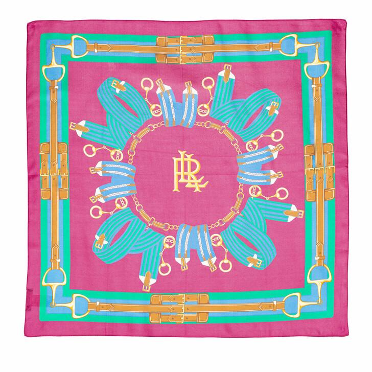 Schal, Lauren Ralph Lauren, Sally 36X36 Scarf Square Deco Bright Pink