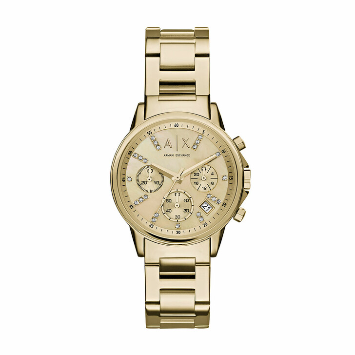 watches, Armani Exchange, AX4327 Ladies Lady Banks Watch Gold