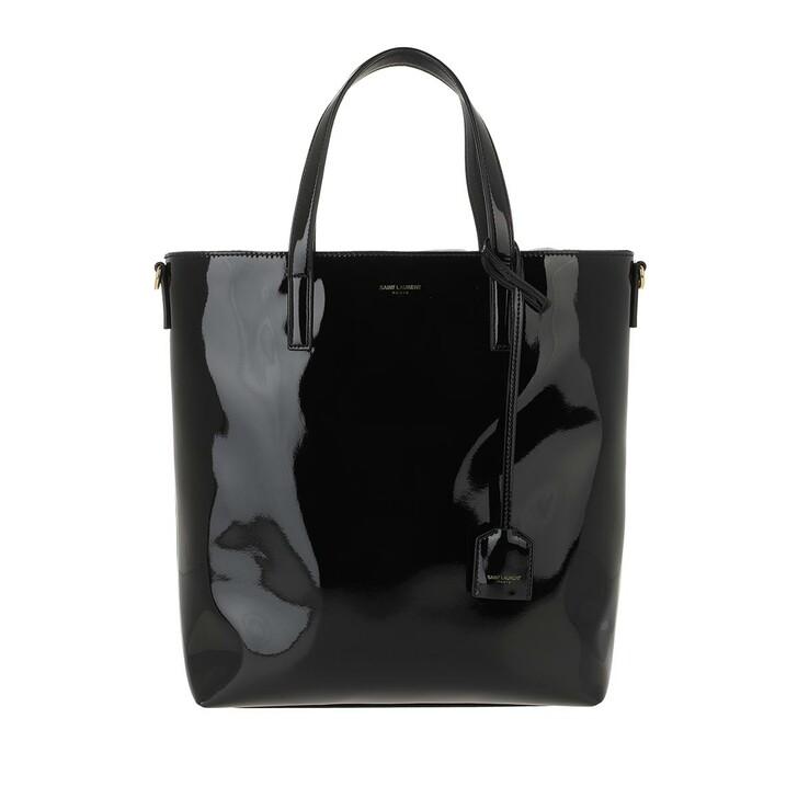 Handtasche, Saint Laurent, Toy Shopping Bag Patent Leather Black