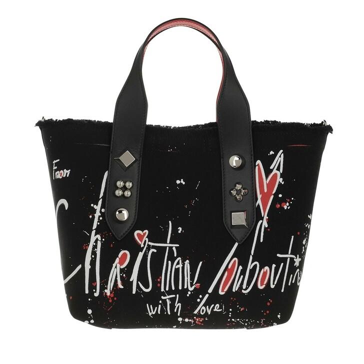 bags, Christian Louboutin, Small Frangibus Tote Bag Black/White/Silver