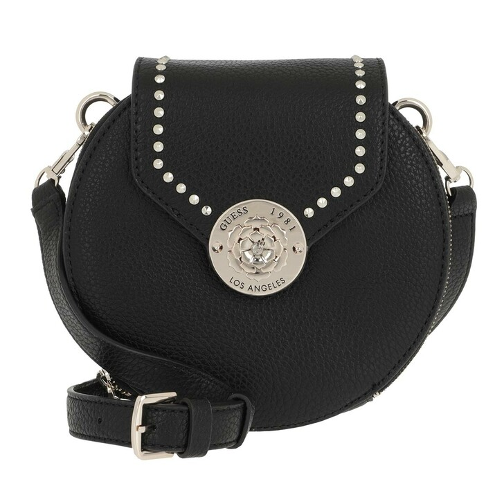 bags, Guess, Belle Isle Round Case Crossbody Bag Black
