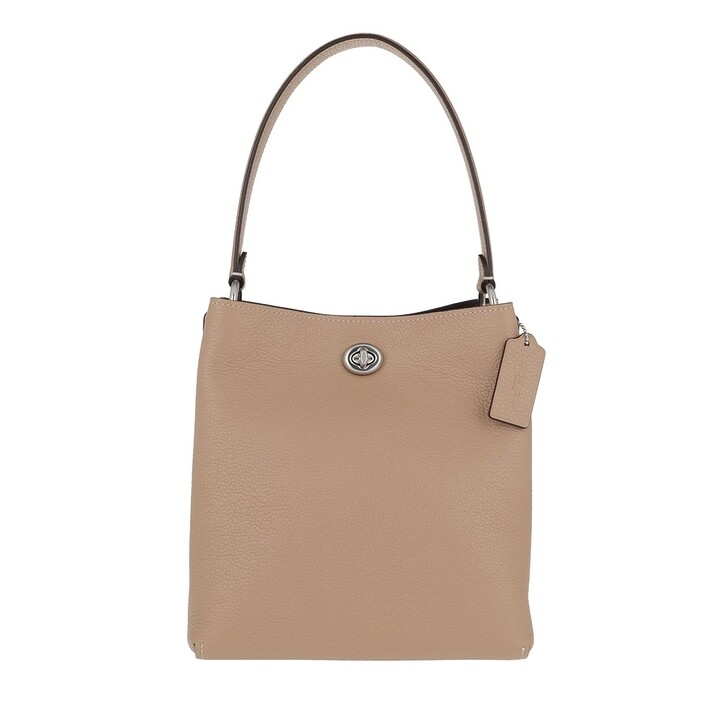 Handtasche, Coach, Polished Pebble Leather Charlie Bucket Bag Taupe