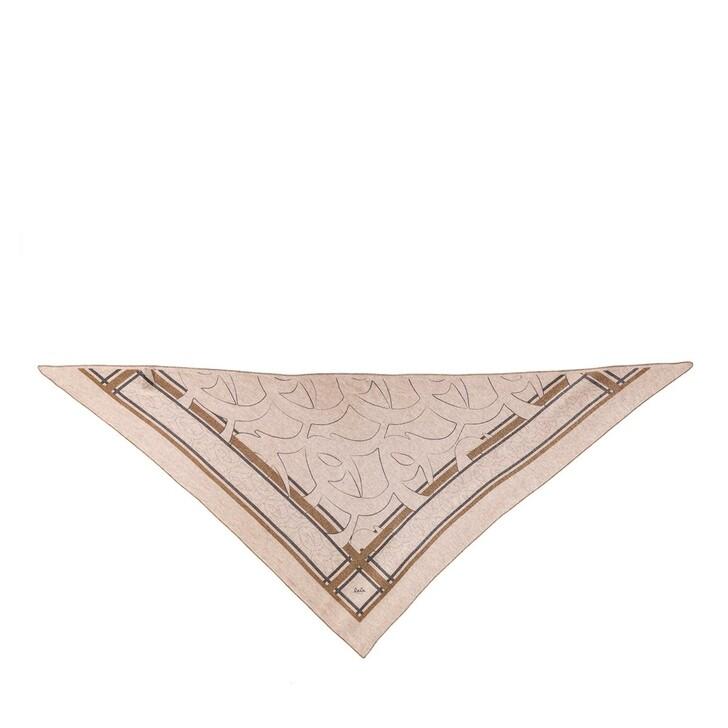 Schal, Lala Berlin, Triangle Big Monogram M Scarf Monogram Dune and Grey