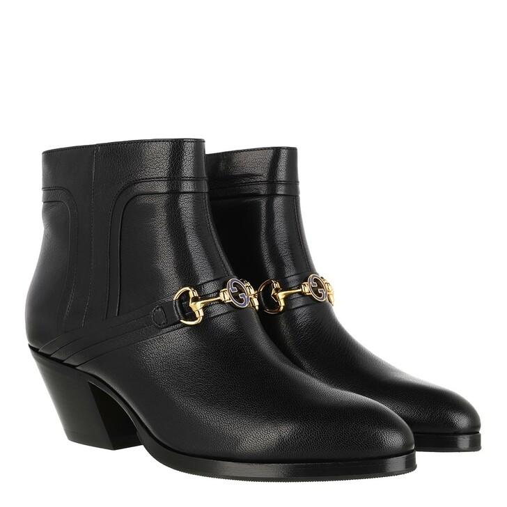 shoes, Gucci, Horsebit Boots Black