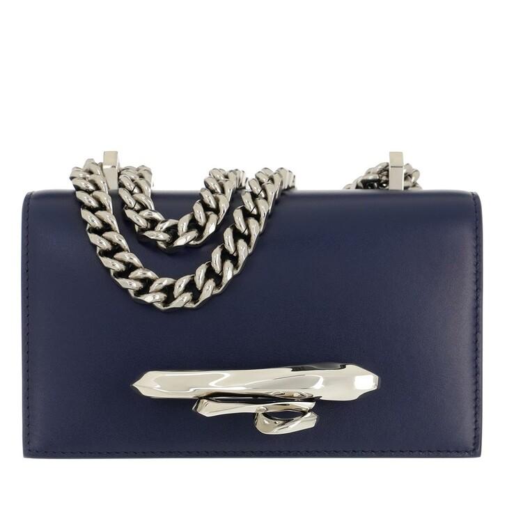 bags, Alexander McQueen, Sculpture Mini Satchel Bag Night Blue
