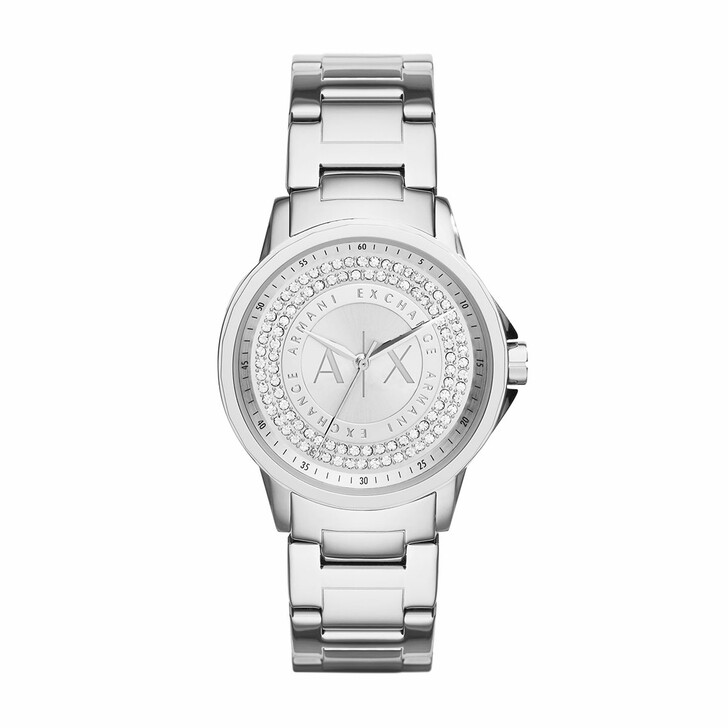 Uhr, Armani Exchange, AX4320 Ladies Lady Banks Watch Silver