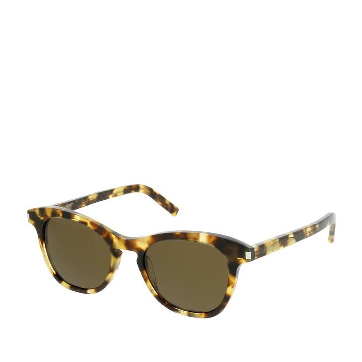 Sonnenbrille, Saint Laurent, SL 356-004 49 Sunglasses Havana-Havana-Brown
